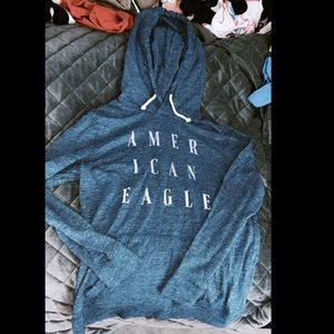 American eagle hooded shirt